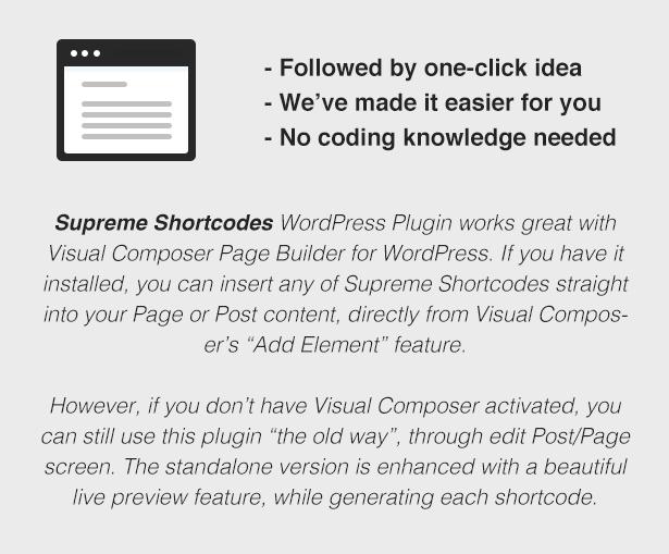 Supreme Shortcodes | WordPress Plugin 3