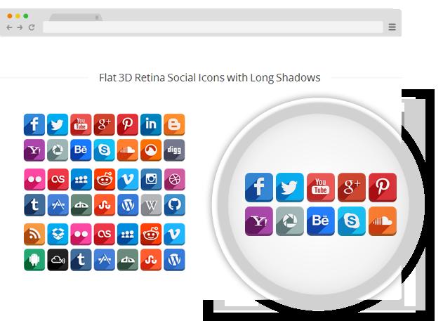 Supreme Shortcodes - Social Retina Icons