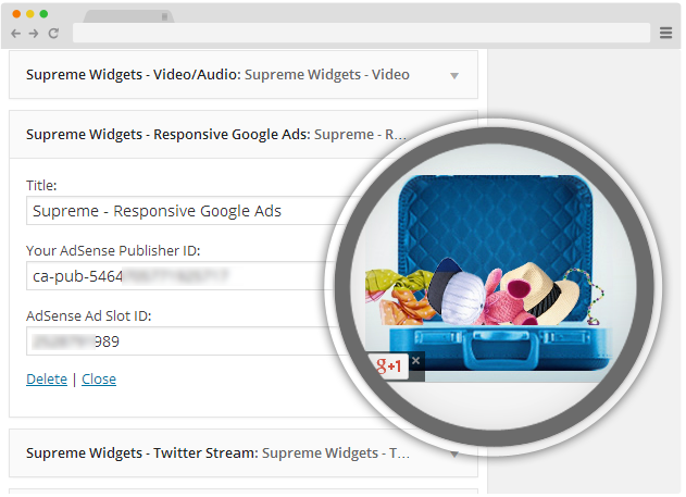 Responsive Google Ads - Supreme Widgets WP Plugin
